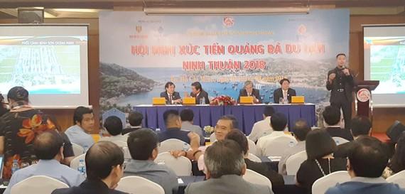 Quang cảnh Hội nghị xúc tiến đầu tư, quảng bá du lịch vào Ninh Thuận năm 2018.