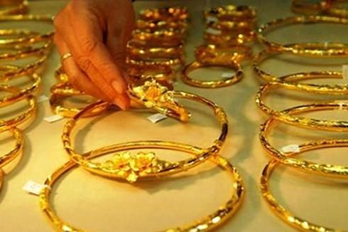 Giá vàng trong nước đồng loạt giảm nhẹ