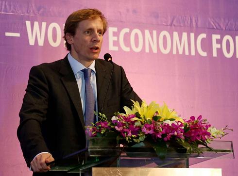 Giám đốc khu vực châu Á - Thái Bình Dương của WEF Justin Wood. (Ảnh: Cổng thông tin điện tử Bộ KH&ĐT).