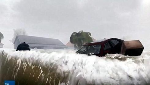 Thiệt hại do cơn bão Florence gây ra cho hai bang Bắc và Nam Carolina có thể lên tới 5 tỷ USD. Ảnh: Daily Mail