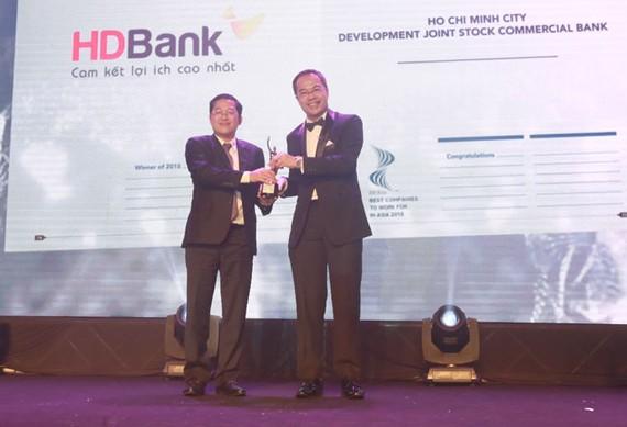 HDBank được bình chọn nơi làm việc tốt nhất châu Á