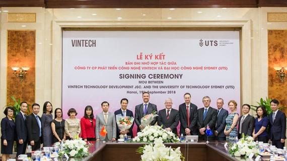 VinTech và Đại học Công nghệ Sydney ký ghi nhớ hợp tác công nghệ