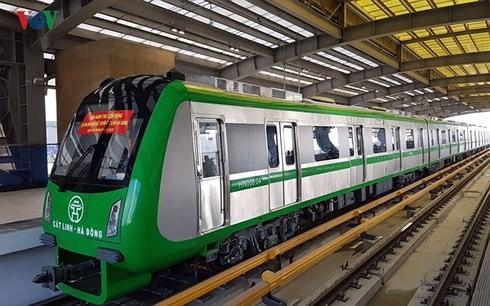 Dự án Đường sắt đô thị Hà Nội, tuyến Cát Linh - Hà Đông được đầu tư xây dựng bằng vốn vay ODA. (Ảnh: Phi Long/VOV.VN)
