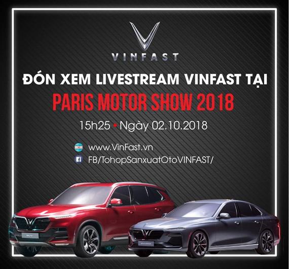 15 giờ 25 chiều nay thương hiệu ô tô Việt ra mắt toàn cầu
