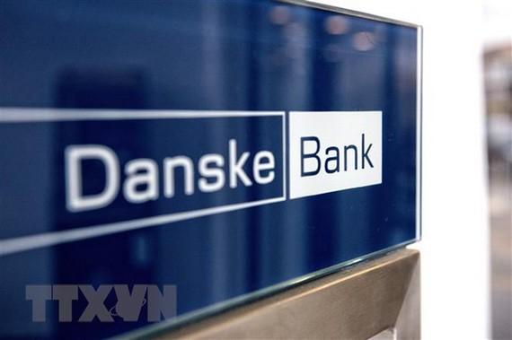 Biểu tượng Danske Bank tại Copenhagen, Đan Mạch. (Ảnh: AFP/TTXVN)