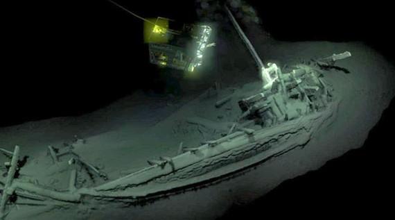 Xác tàu cổ nhất thế giới được phát hiện tại Biển Đen