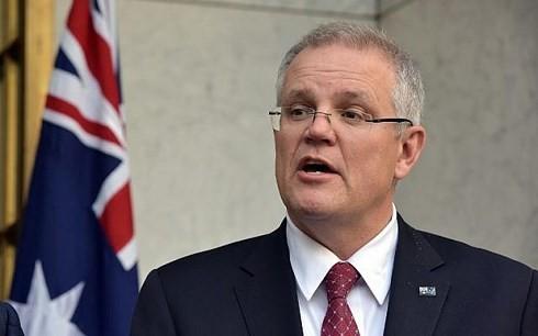 Thủ tướng Australia Scott Morrison thông báo Australia vừa chính thức thông qua CP-TPP. (Ảnh: AFP)