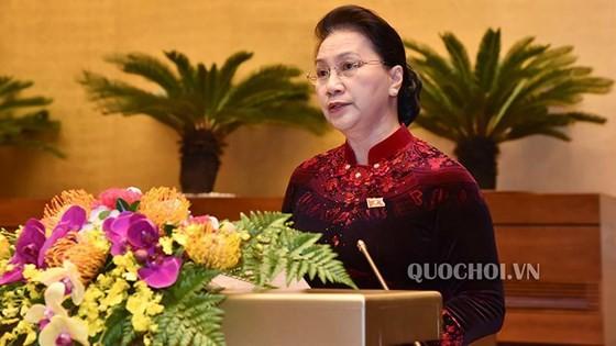 Chủ tịch Quốc hội Nguyễn Thị Kim Ngân phát biểu bế mạc. Ảnh: Quochoi.vn