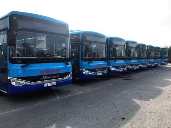 Tuyến buýt 17 lộ trình Long Biên-Nội Bài xe được thay mới sẽ có sức chứa 60 chỗ. (Ảnh: Transerco cung cấp)