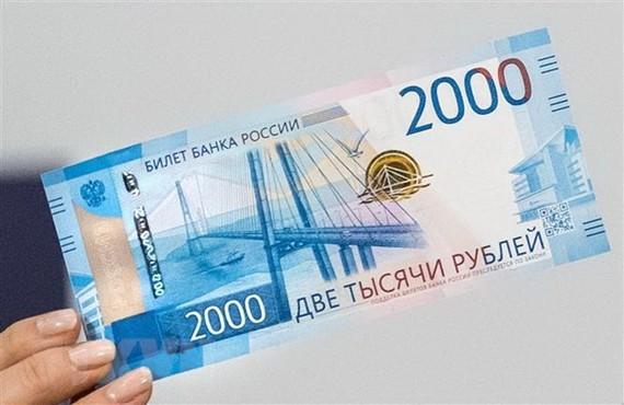 Đồng tiền mệnh giá 2.000 ruble của Nga. (Nguồn: AFP/TTXVN)