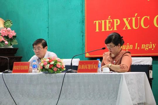 Chủ tịch UBND TPHCM Nguyễn Thành Phong tiếp xúc cử tri quận 1