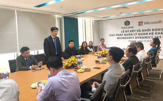 Ông Phạm Thế Trường – Tổng giám đốc Microsoft Việt Nam phát biểu tại lễ ký kết