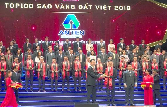 An Tiến Industries lần đầu tiên nhận giải Sao Vàng đất Việt 2018