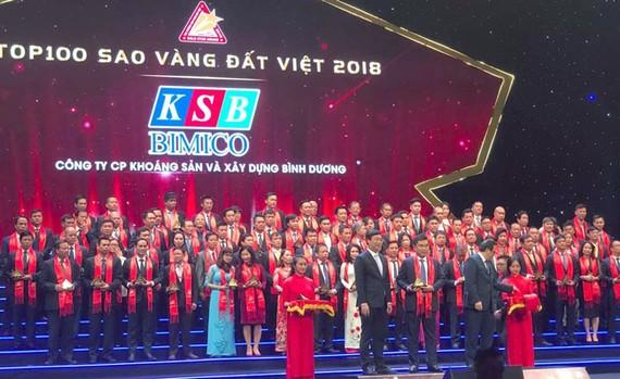 KSB vinh dự nằm trong Giải Top 100 Sao Vàng Đất Việt  2018.