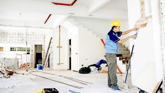 Nhu cầu sửa nhà cuối năm của người dân TPHCM tăng cao