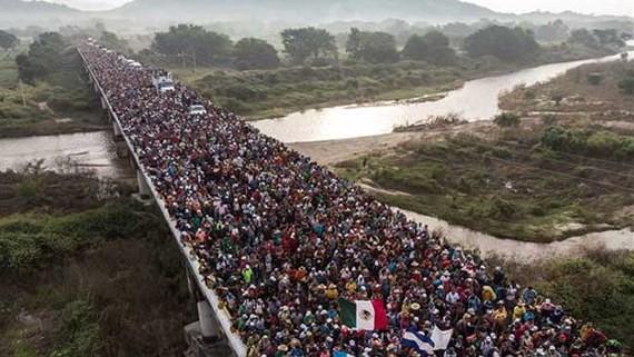 Người di cư Honduras tại khu vực Arriaga, Mexico. Nguồn: TTXVN