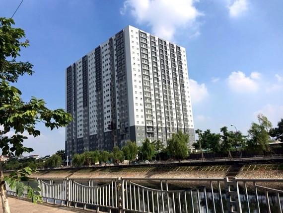 Dự án nhà ở xã hội Đại Kim, quận Hoàng Mai, Hà Nội. (Ảnh: Minh Nghĩa/TTXVN)