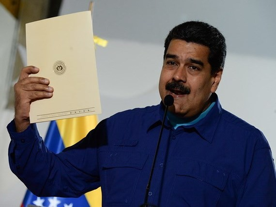 Mít tinh ủng hộ Tổng thống Maduro tại Nga