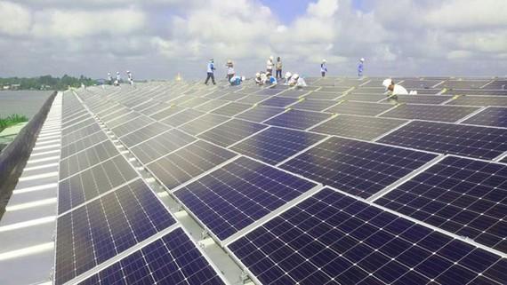 Dự án Sao Mai Solar PV1 đang được Sao Mai triển khai gấp rút