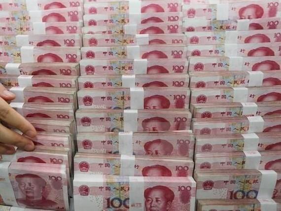 Đồng nhân dân tệ của Trung Quốc. (Nguồn: EPA/TTXVN)