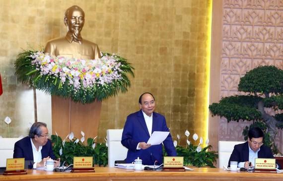Thủ tướng Nguyễn Xuân Phúc chủ trì Phiên họp Chính phủ thường kỳ tháng 3 năm 2019. (Ảnh: Thống Nhất/TTXVN)