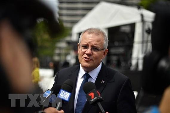 Thủ tướng Australia Scott Morrison phát biểu với báo giới tại Sydney ngày 20/10/2018. (Ảnh: AFP/ TTXVN)
