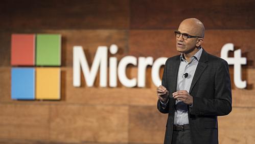 CEO Satya Nadella, người góp phần giúp Microsoft đat vốn hóa 1.000 tỷ USD.