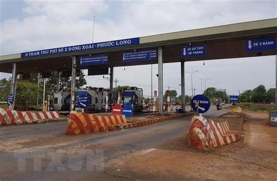 Trạm thu phí Đồng Xoài-Phước Long, tỉnh Bình Phước. (Ảnh: Đậu Tất Thành/TTXVN)