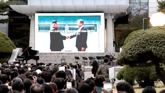 Lễ kỷ niệm một năm hội nghị thượng đỉnh lịch sử giữa Tổng thống Moon Jae-in và nhà lãnh đạo Kim Jong-un