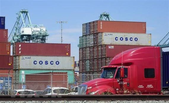 Cảng hàng hóa Long Beach ở California, Mỹ. (Nguồn: AFP/TTXVN)
