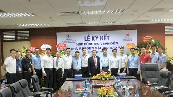 Tập đoàn Sao Mai đã ký kết hợp đồng mua bán điện với EVN, khi dự án hoàn thành sẽ được đấu nối lên lưới điện quốc gia.