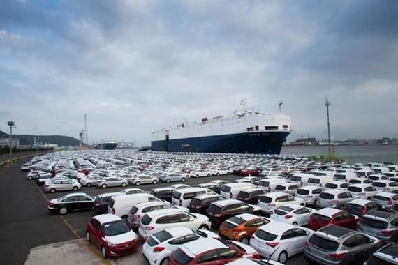 Ôtô Hàn Quốc chờ xuất khẩu. (Nguồn: Business Korea)