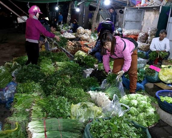 Chợ nông sản thực phẩm Nam Hà Nội. (Nguồn: TTXVN)