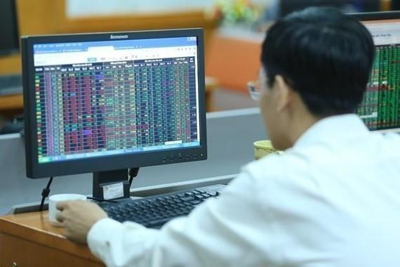Nhà đầu tư theo dõi bảng chỉ số chứng khoán. (Ảnh: PV/Vietnam+)