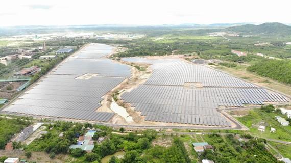 Dự án điện mặt trời đầu tiên tại Đăk Nông chính thức vận hành