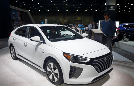 Mẫu xe của hãng Hyundai được giới thiệu tại Triển lãm ôtô quốc tế Bắc Mỹ ở Detroit, Mỹ, ngày 16/1/2019. (Ảnh: THX/TTXVN)