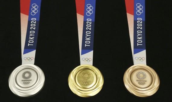 Hình ảnh các huy chương tại Olympic 2020 (Ảnh: AP News)