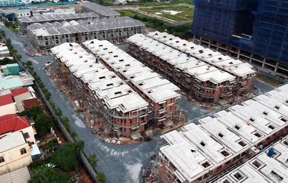 Một dự án địa ốc có sai phạm trong xây dựng ở TPHCM. Ảnh: THÀNH TRÍ
