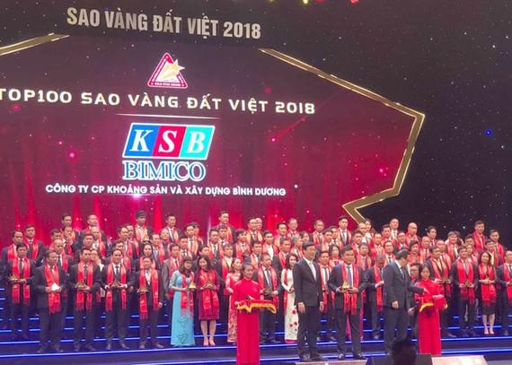 Công ty KSB nhận giải thưởng Sao Vàng đất Việt năm 2018.
