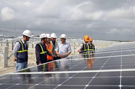 Hàng loạt nhà máy điện mặt trời tại Quảng Trị chuẩn bị phát điện hòa vào lưới điện quốc gia. Ảnh: VĂN THẮNG