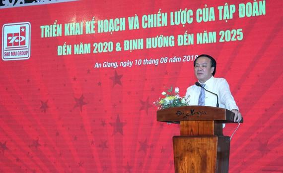 """Ông Lê Thanh Thuấn, Tổng Giám đốc Tập đoàn Sao Mai """"khẳng định"""" chiến lược phát triển kinh doanh năm 2019 và những năm tiếp theo là bước đi hoàn toàn chính xác."""
