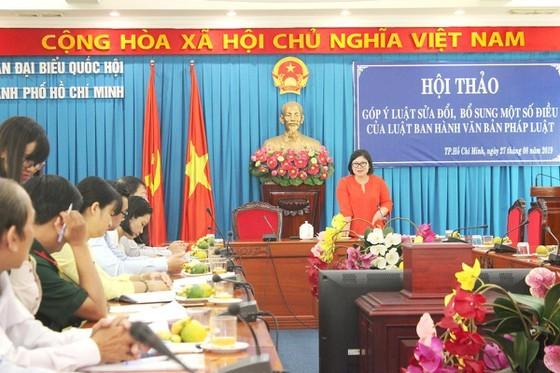 Hội thảo do Đoàn đại biểu Quốc hội THCM tổ chức sáng 27-8. Ảnh: MAI HOA