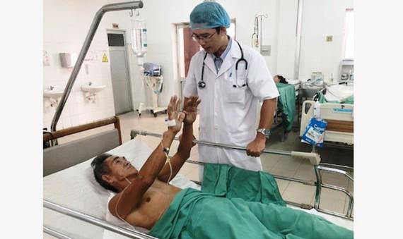 Bệnh nhân Trần Văn Thành phục hồi tốt sau khi can thiệp thành công