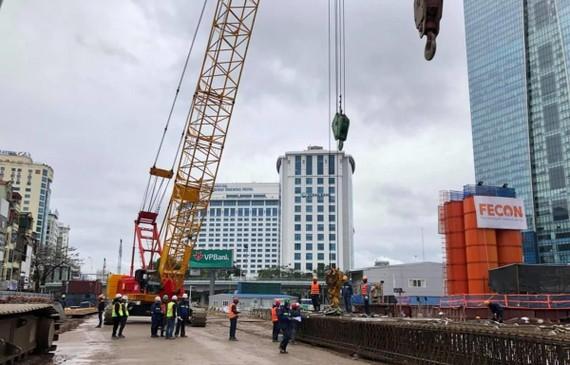 FECON trúng thầu thi công ga ngầm tuyến đường sắt Nhổn-ga Hà Nội. (Ảnh: Tú Uyên)