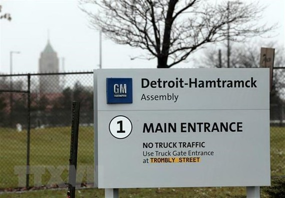 Một nhà máy của hãng General Motors tại Detroit, Michigan, Mỹ ngày 26/11/2018. (Nguồn: AFP/TTXVN)
