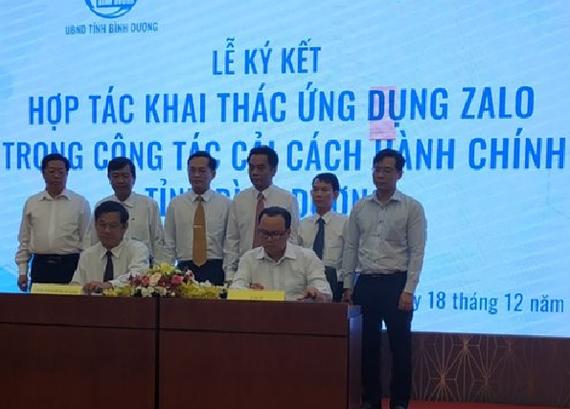 Sở TT-TT Bình Dương ký kết triển khai ứng dụng Zalo