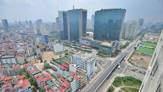 Một góc thành phố Hà Nội nhìn từ trên cao. Ảnh: LÃ ANH