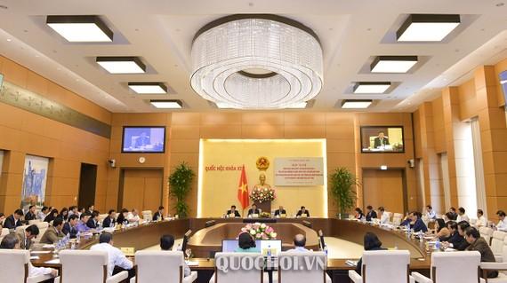 Quang cảnh Hội nghị triển khai Nghị quyết số 580/2018/UBTVQH14