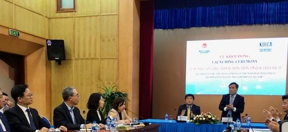 Thứ trưởng Bộ Kế hoạch và Đầu tư Vũ Đại Thắng phát biểu tại lễ khởi động dự án
