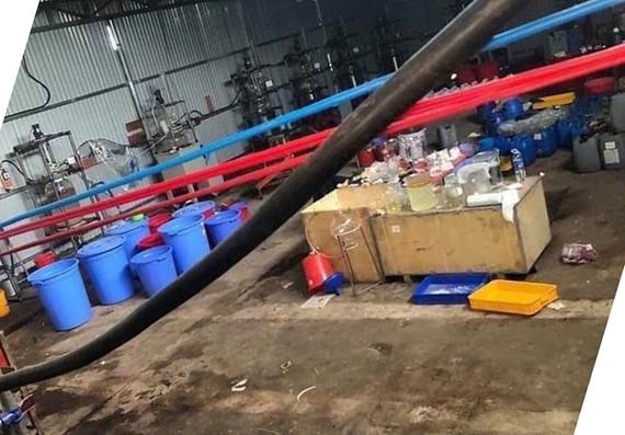 Khu nhà xưởng sản xuất ma túy.